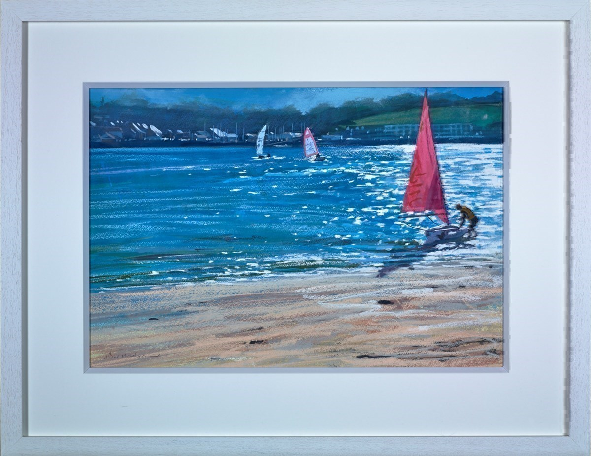 Padstow from Rock by James Bartholomew -  sized 26x18 inches. Available from Whitewall Galleries